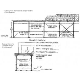 Sidewalk, Bridge, | Shoring Systems | Scaffolding | Stellar Service